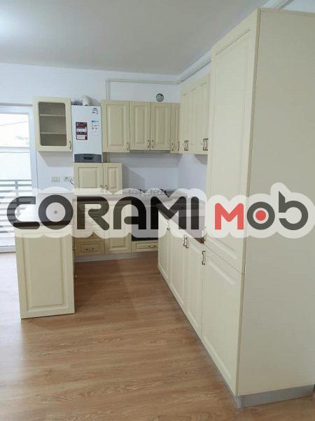 Mobilier bucătărie CREM cu uși mdf vopsit frezat